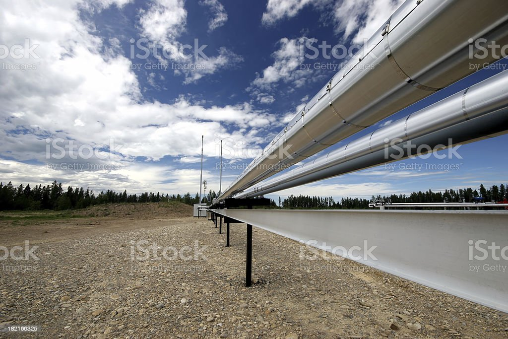Oilfield - Perspective royalty-free stock photo