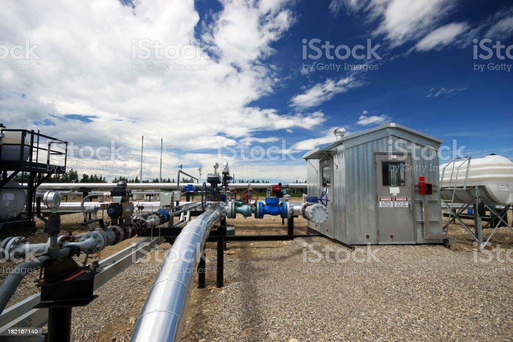 Oilfield - Pipe stock photo