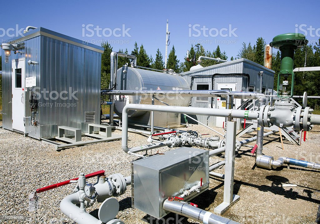Oilfield Site royalty-free stock photo