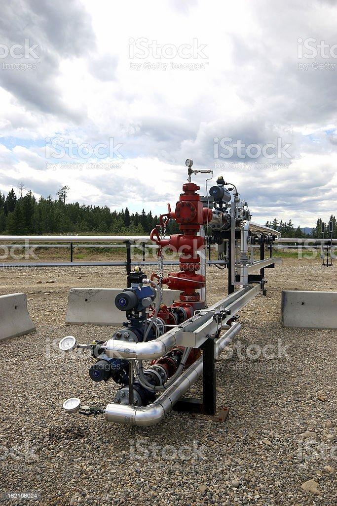 Oilfield - Wellhead stock photo