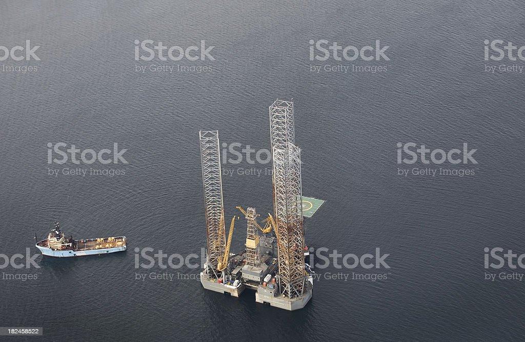 Aceite y Gas de torre de perforación foto de stock libre de derechos