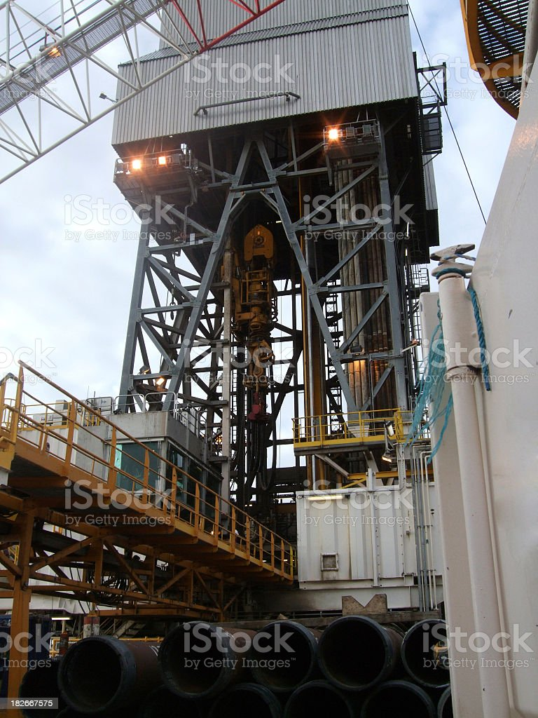 Oilrig derrick and casing royalty-free stock photo