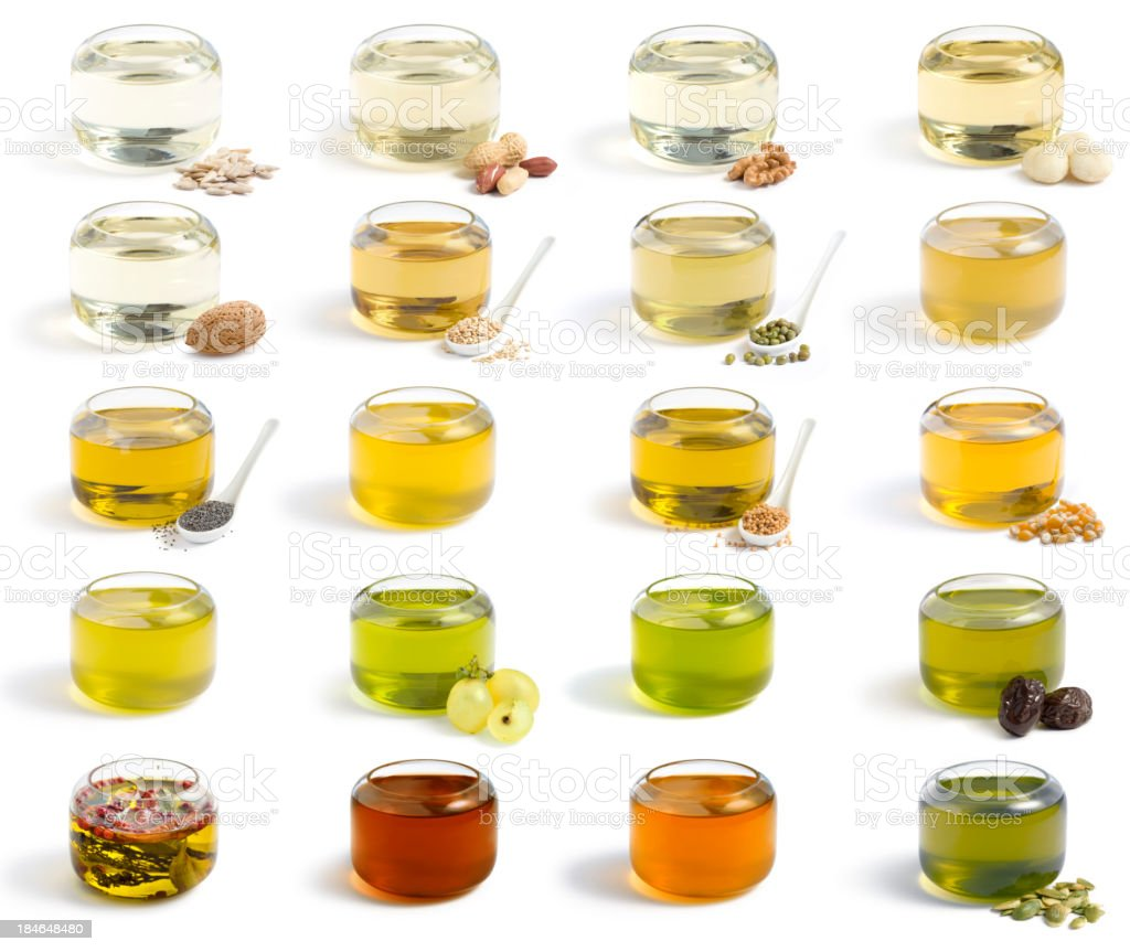 Oils collection. XXXL stock photo