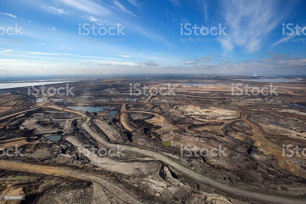 Oilsands foto aerea - foto stock