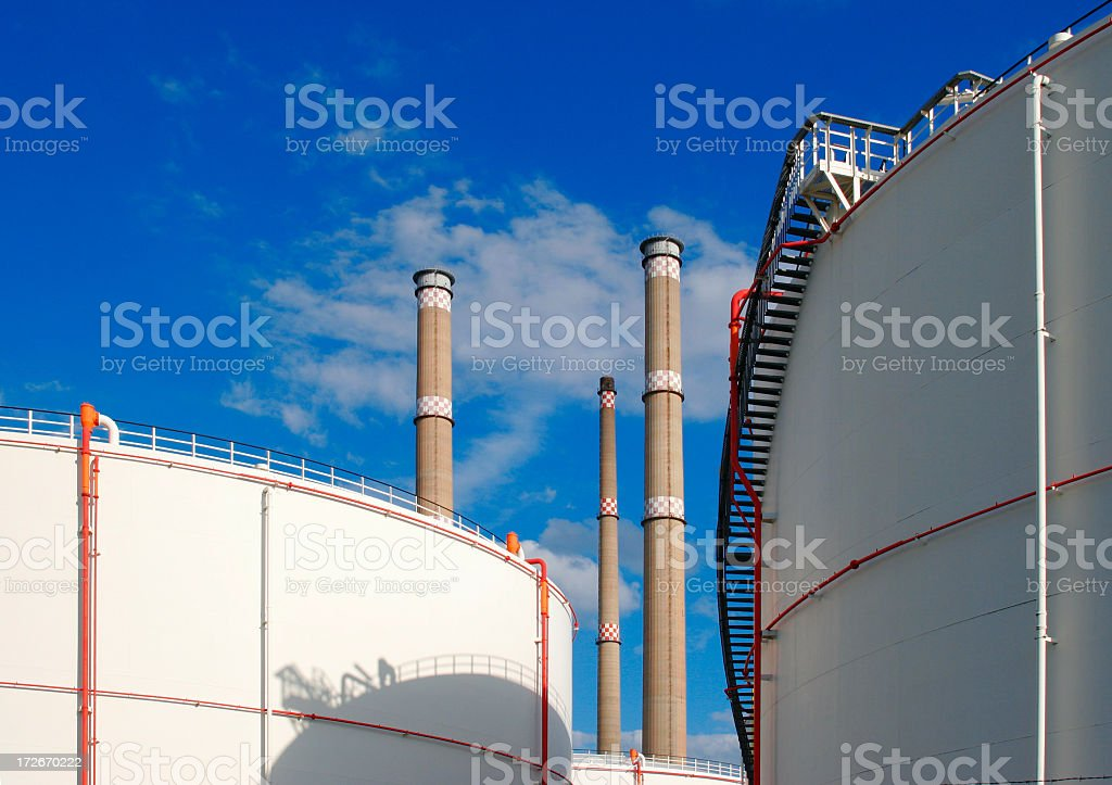 Oiltanks royalty-free stock photo