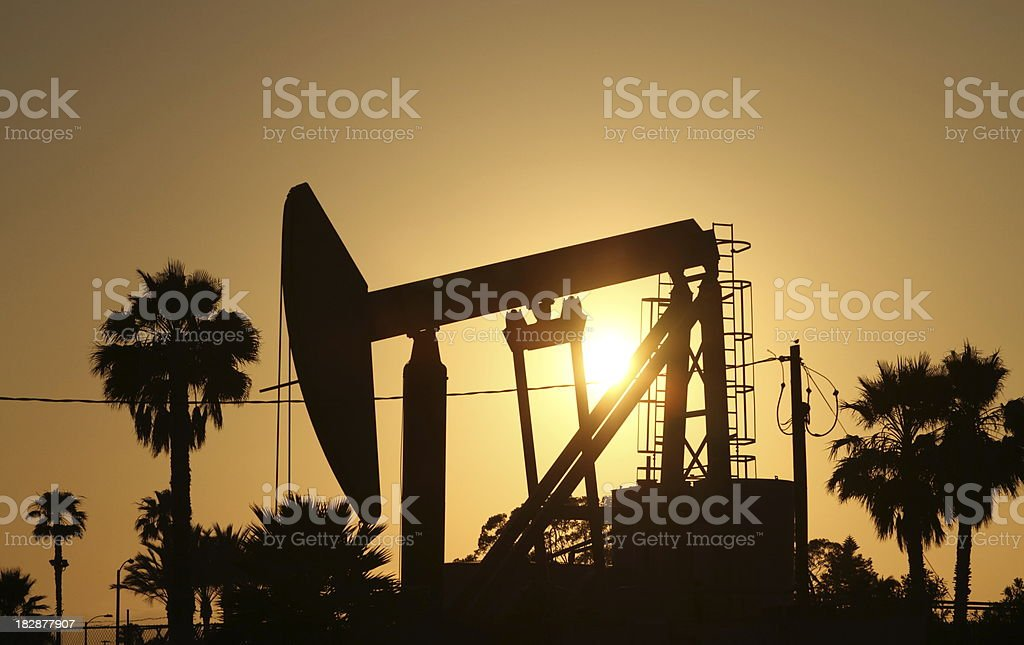 Oilwell at Sunset royalty-free stock photo