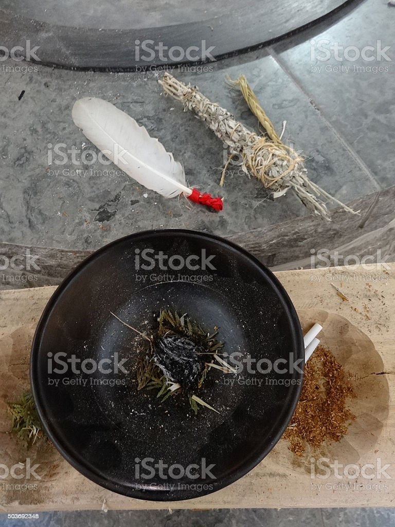 Ojibwa Purification stock photo
