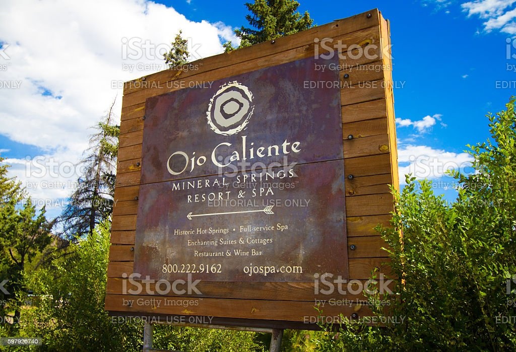 Ojo Caliente Hot springs New Mexico Stock Photo - Alamy