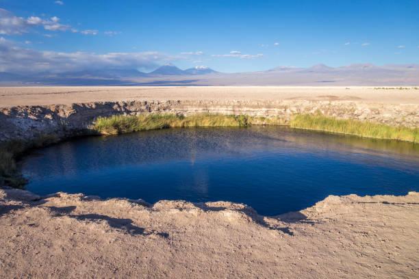 Ojos del salar landmark in San Pedro de Atacama, Chile stock photo