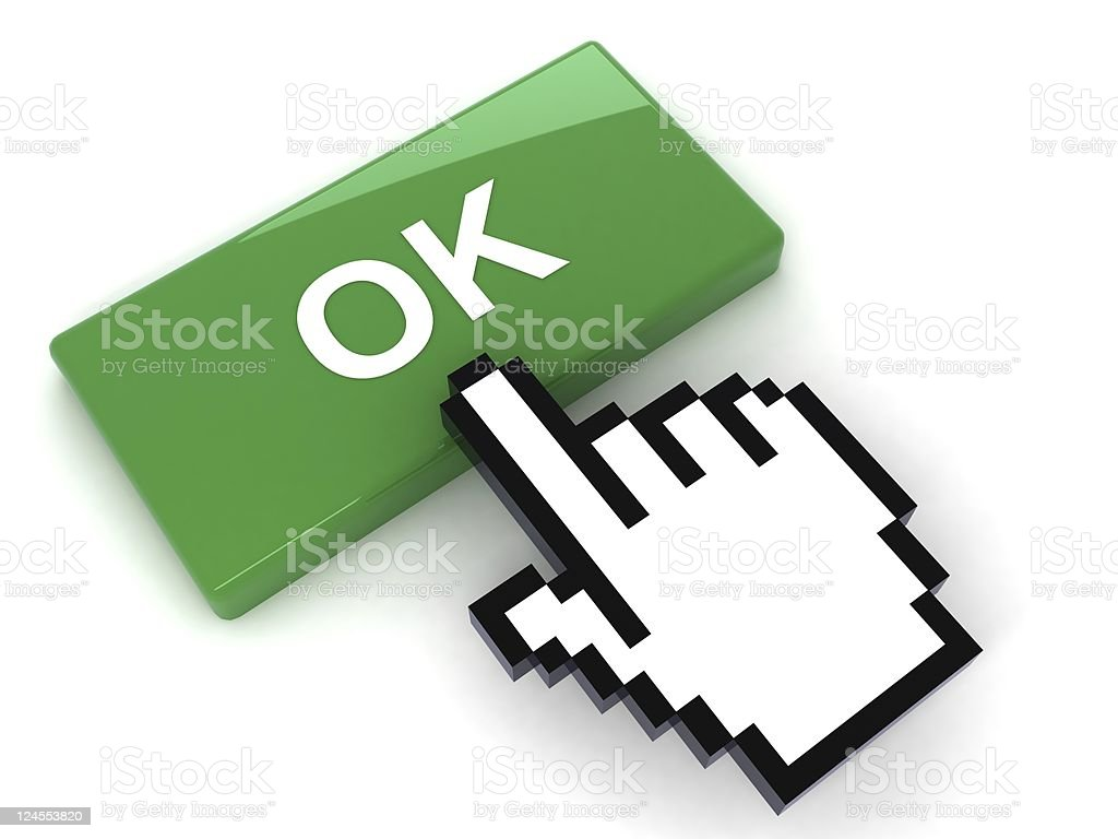 Ok Button royalty-free stock photo
