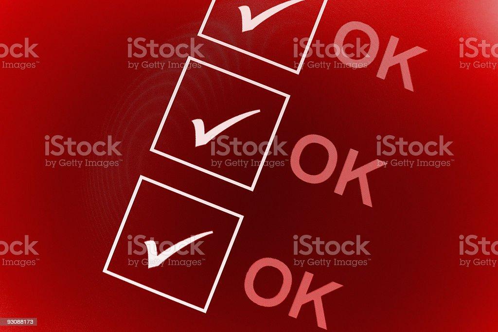 ok checklist royalty-free stock photo