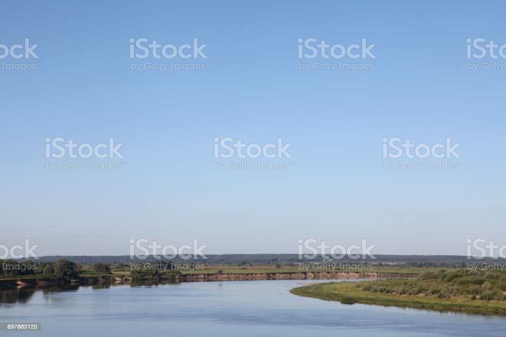 Oka River bed stock photo