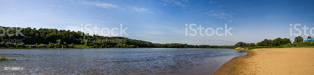 Oka river in a summer day.  Panorama foto stock royalty-free