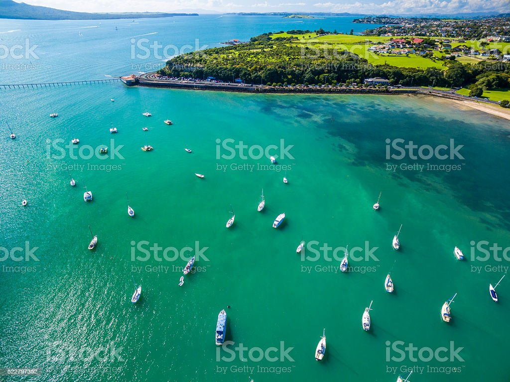 Okahu Bay stock photo