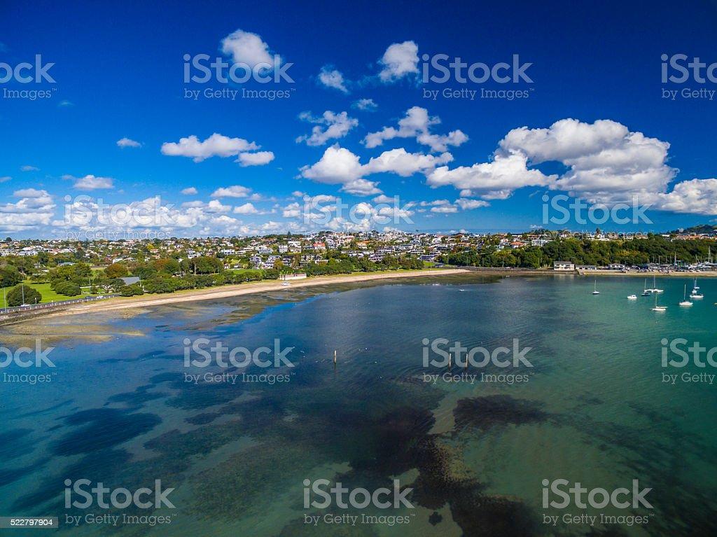 Okahu Bay stock photo