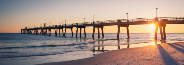 Okaloosa Fishing Pier Fort Walton Beach stock photo