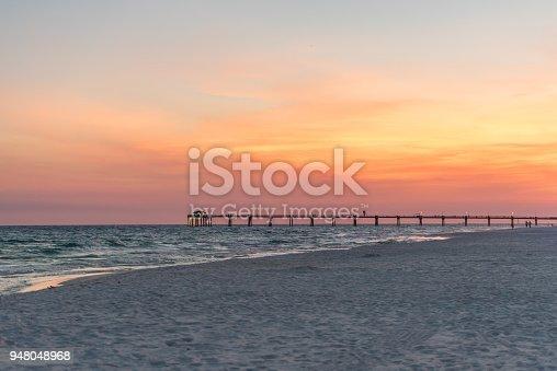 istock Okaloosa Island Fishing Pier at Sunset 948048968