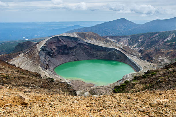Okama Crater Lake in Japan, Zao – Foto