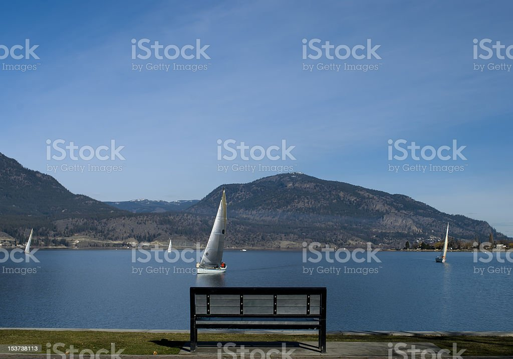 Okanagan Bench royalty-free stock photo