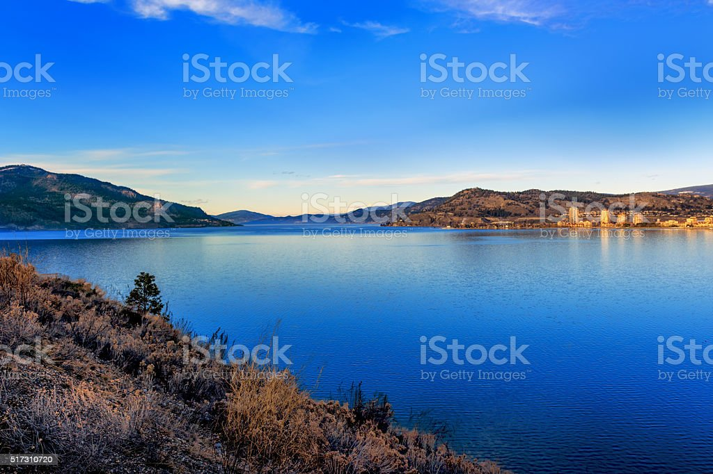 Okanagan Lake Kelowna BC Canada stock photo