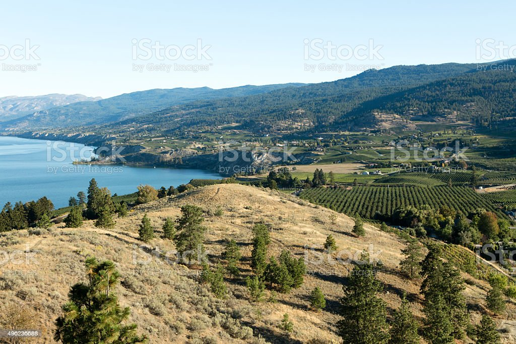 Okanagan Lake Penticton stock photo