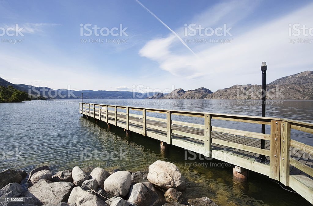 Okanagan Lake stock photo