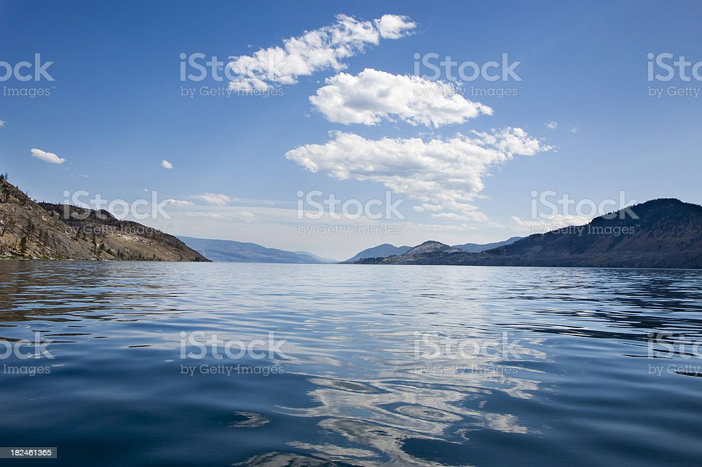 Okanagan Lake royalty-free stock photo