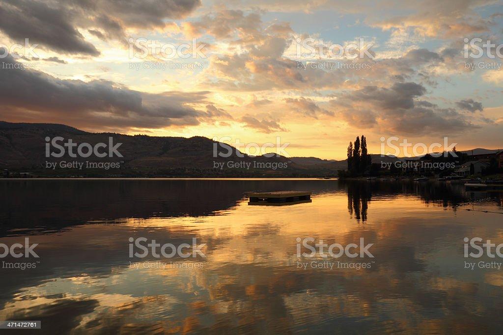 Okanagan, Osoyoos Lake Dawn stock photo