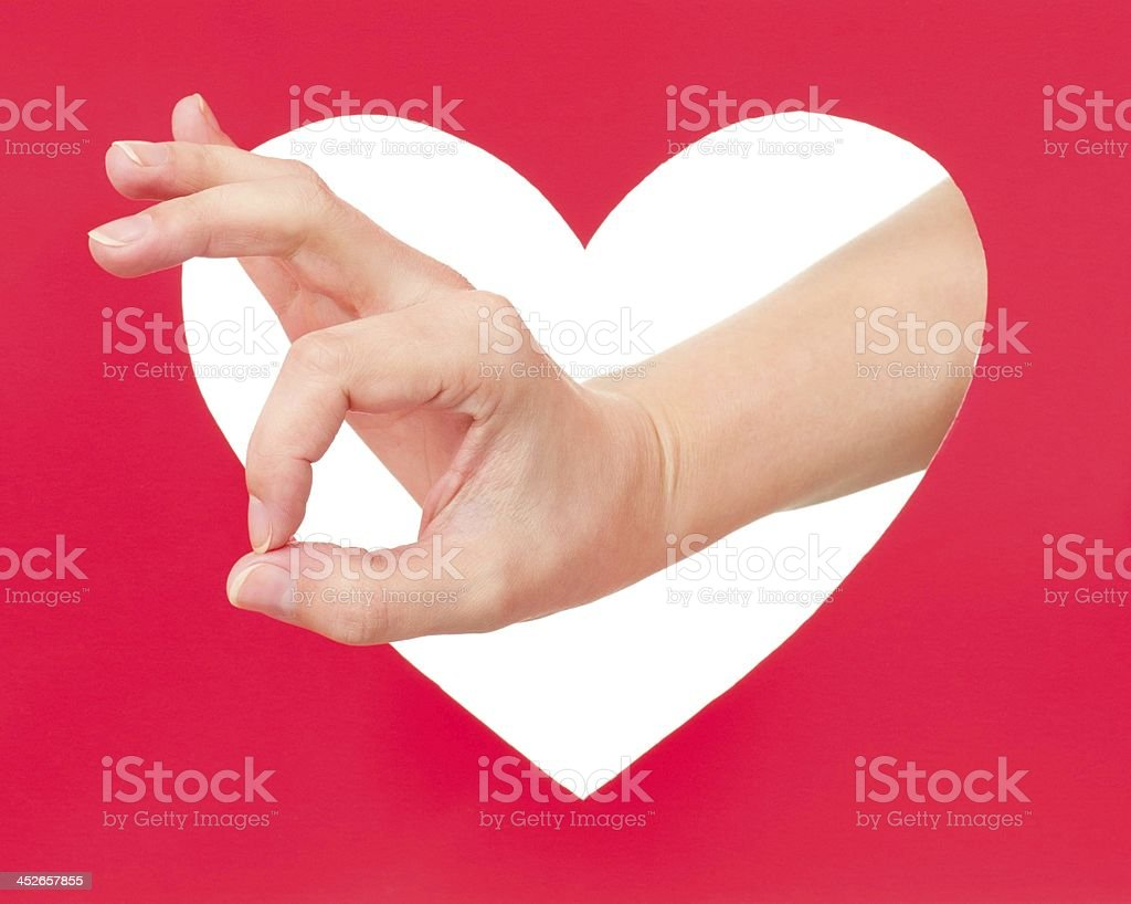 Okay gesture stock photo