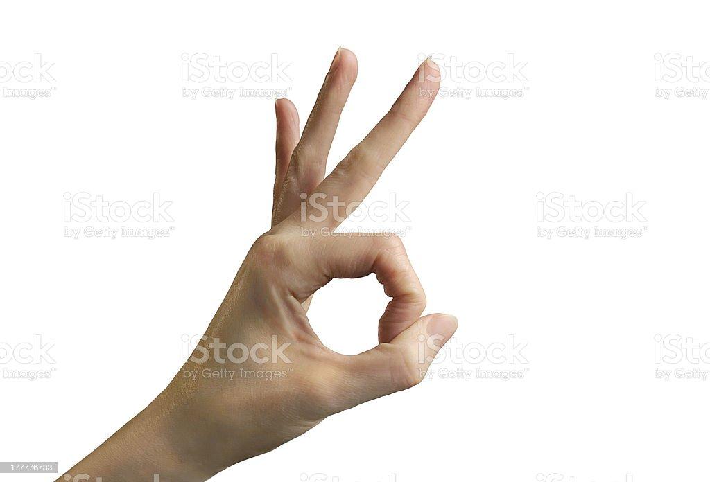 Ou lancer d'une chiquenaude Geste de la main OK - Photo