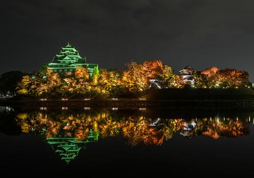 Okayama castle or Crow castle in Okayama, Japan