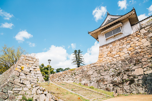 Okayama Castle traditional architecture in Japan