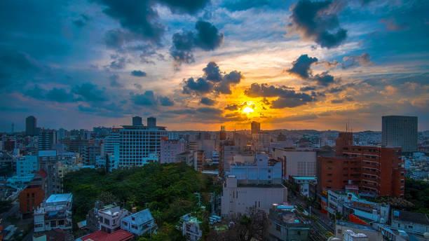 Okinawa Japan Traveling in Okinawa, Japan kokusai dori okinawa stock pictures, royalty-free photos & images