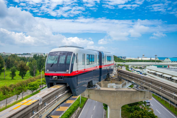 okinawa metro Yui Rail Naha City Monorail naha stock pictures, royalty-free photos & images