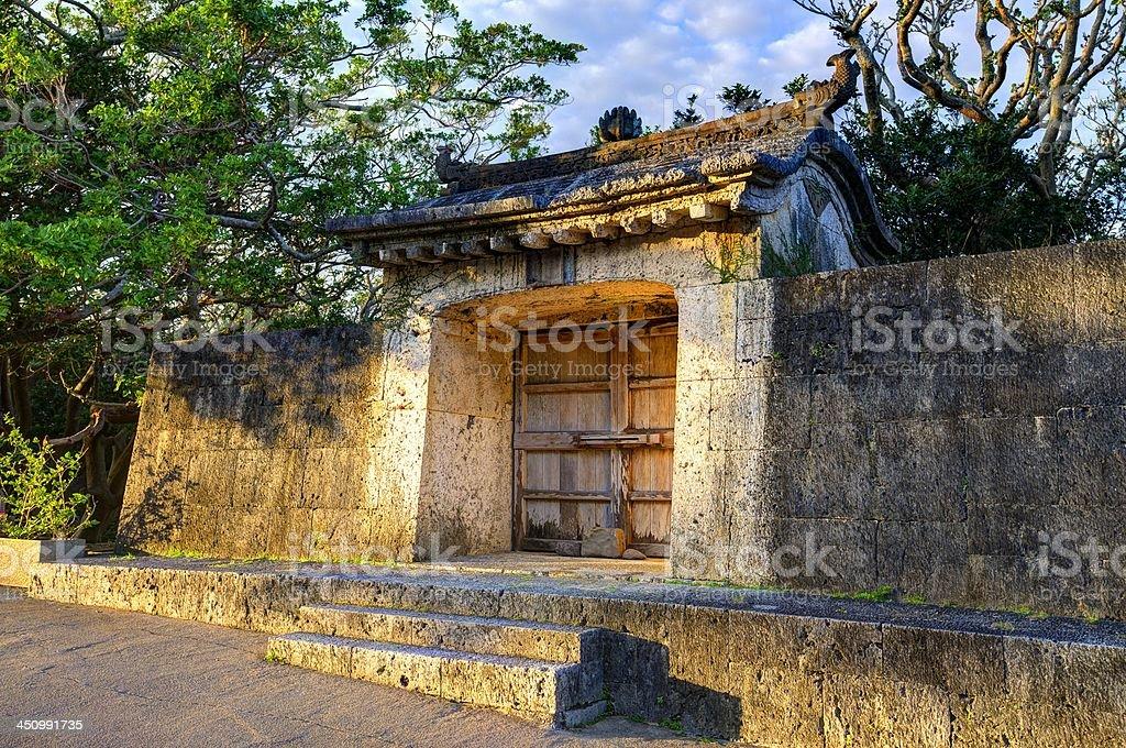 Okinawa Ruins Old palace ruins in Naha, Okinawa, Japan. Ancient Stock Photo
