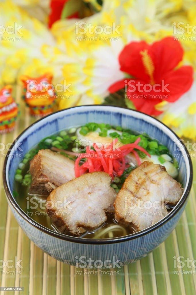 Okinawa soba stock photo