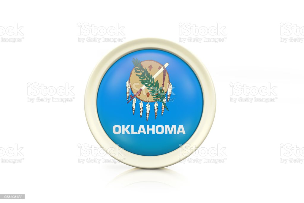 Oklahoma Badge On White Background Stock Photo More Pictures Of
