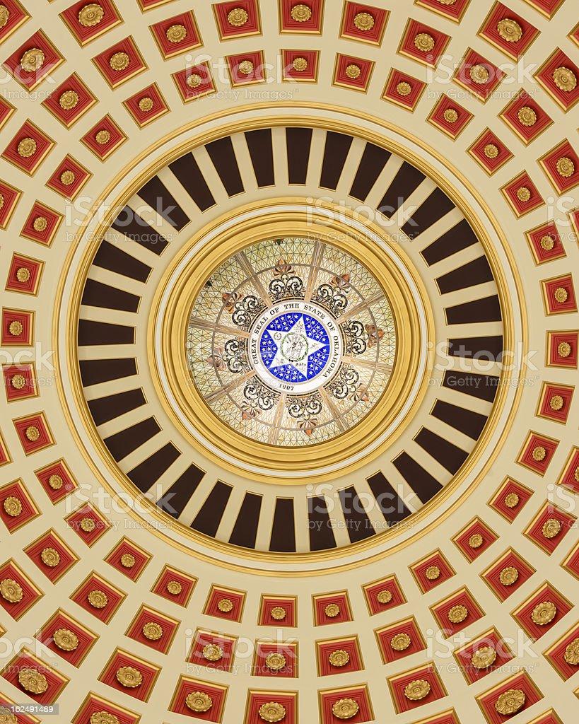 Oklahoma Capitol Dome Interior stock photo