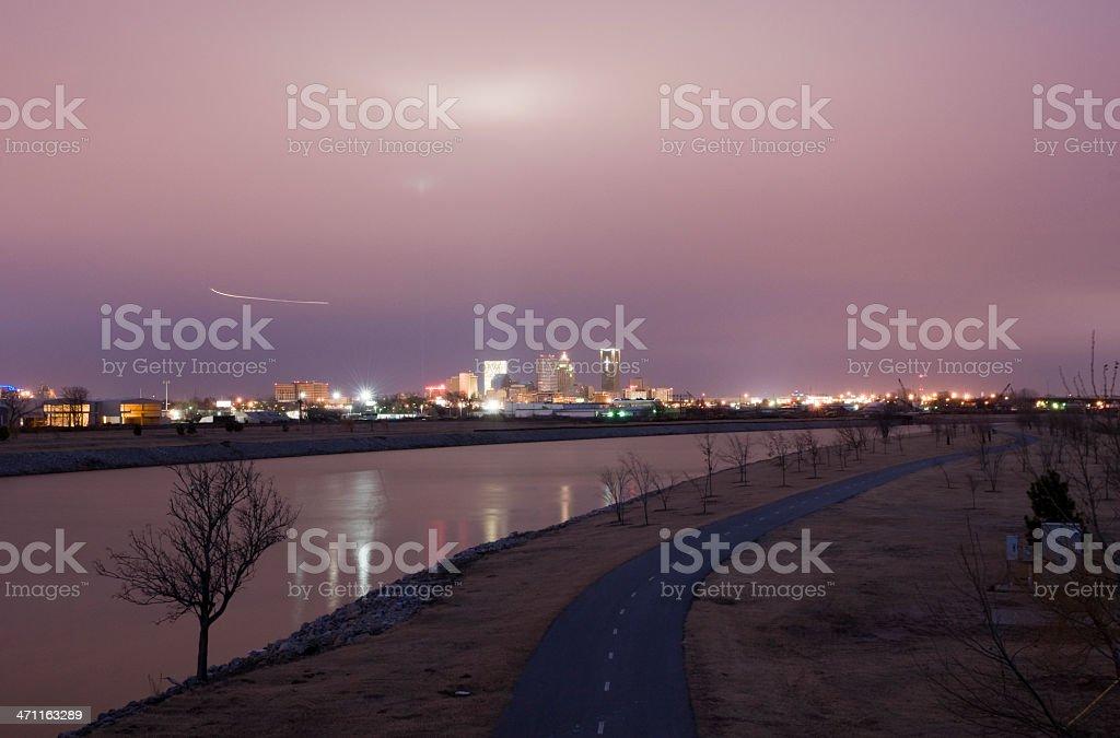 Oklahoma City at Dusk royalty-free stock photo