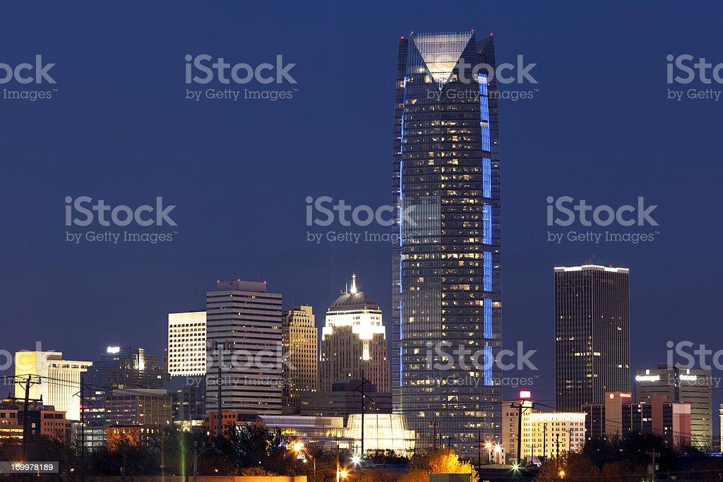 Oklahoma City at Night royalty-free stock photo