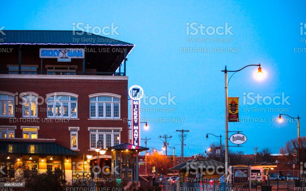 Oklahoma City by night stock photo