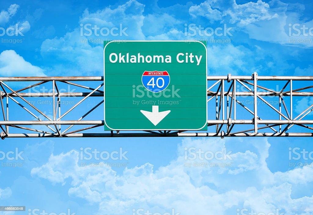 Oklahoma City Interstate 40 Sign stock photo