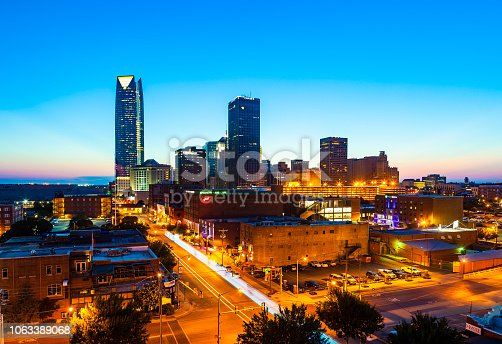 Downtown Oklahoma City, Oklahoma at night