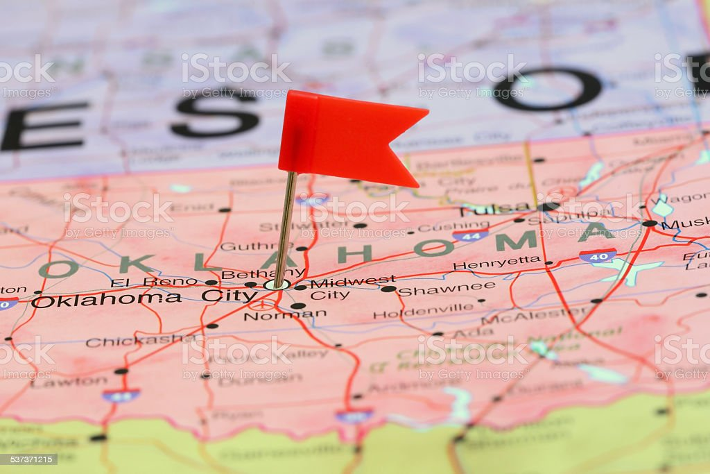 Oklahoma city pinned on a map of usa stock photo 537371215 istock oklahoma city pinned on a map of usa royalty free stock photo gumiabroncs Images
