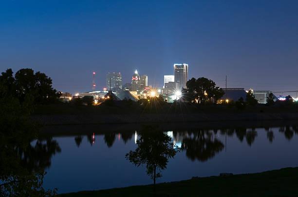 Oklahoma City Skyline at Dusk stock photo
