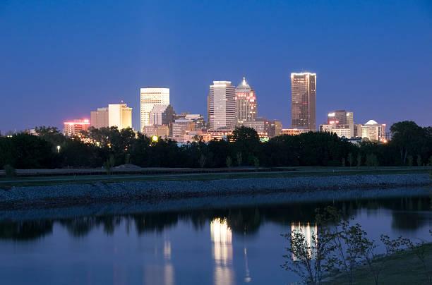 Oklahoma City Skyline at Twilight stock photo