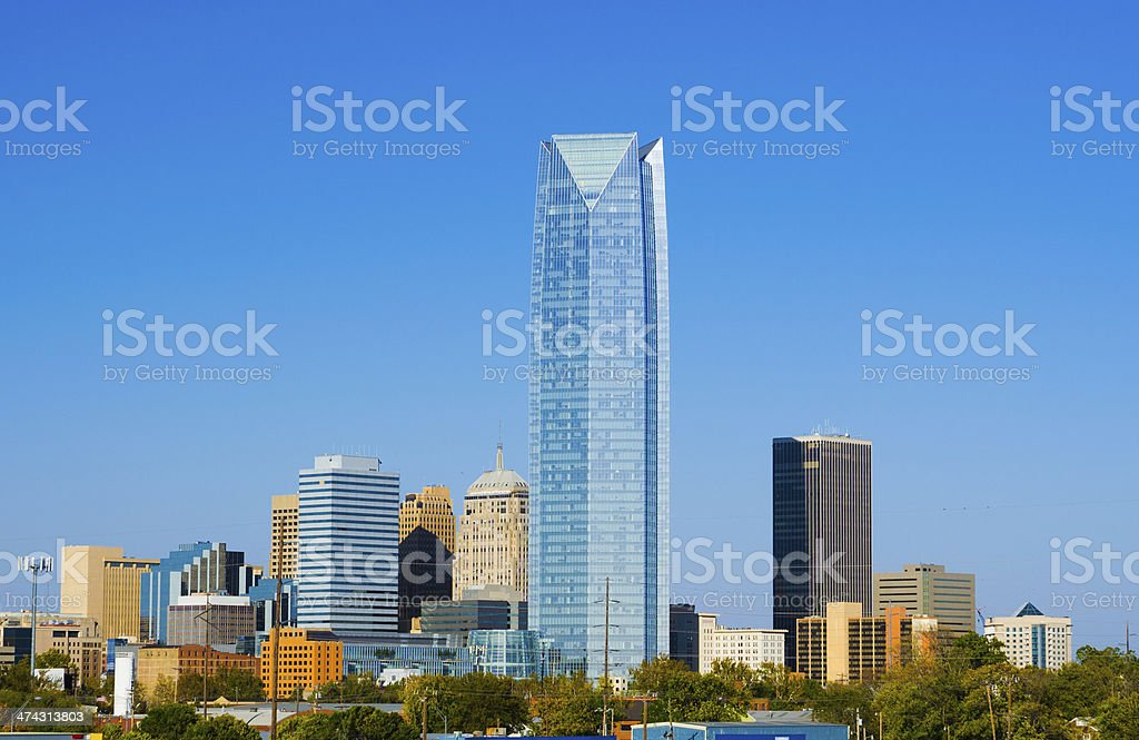 Oklahoma City skyline stock photo