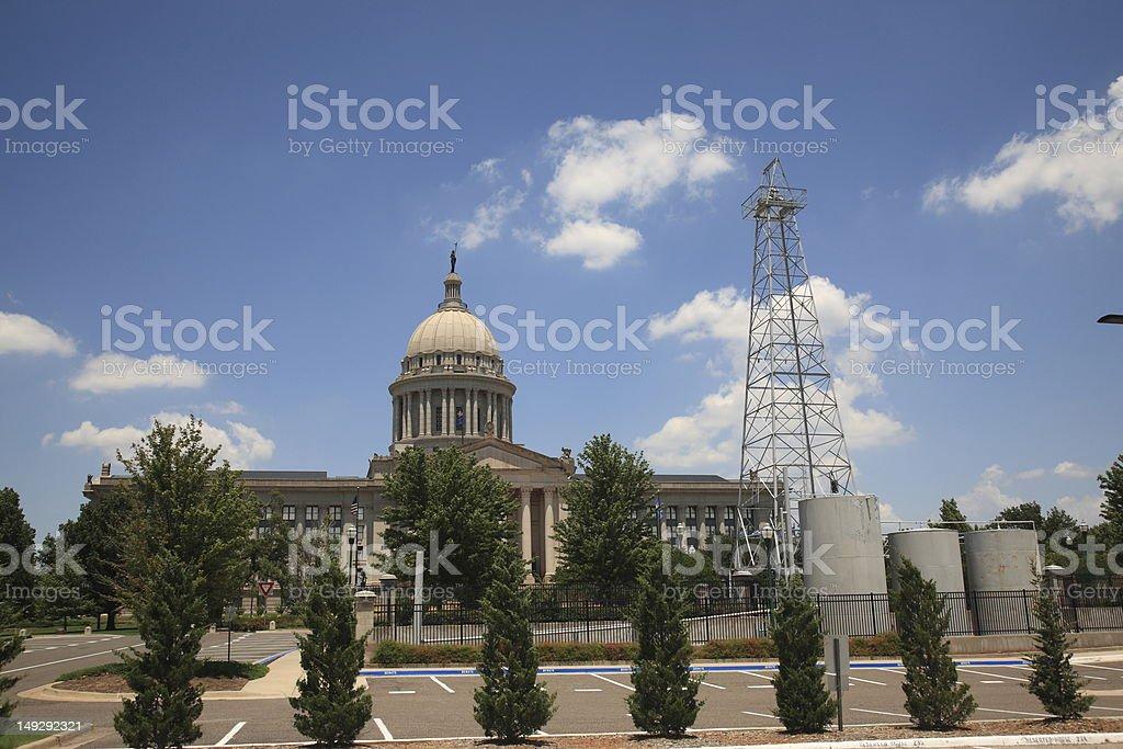 Oklahoma City State Capitol Building royalty-free stock photo