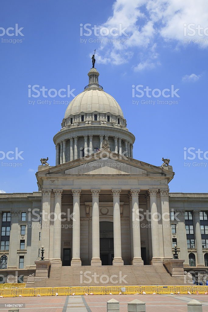 Oklahoma City State Capitol Building royalty-free stock photo