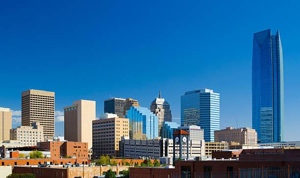 Oklahoma downtown skyline featuring Devon Energy Center stock photo
